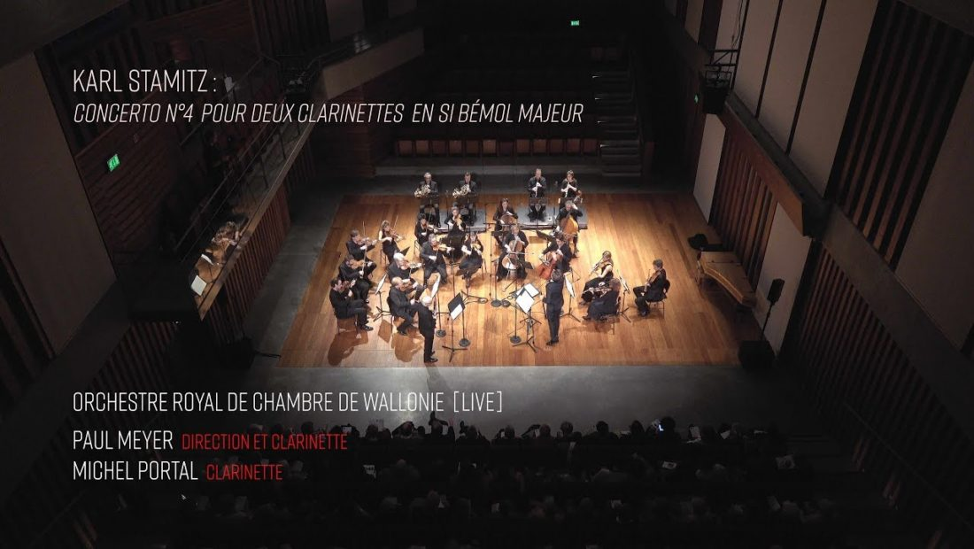 Preview image for our video : Stamitz (Karl) : ­­Concerto pour deux clarinettes – ORCW, Meyer, Portal [LIVE] 4k